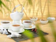Ensemble de différents thés avec beaucoup l'espace pour le texte Images stock
