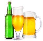 Ensemble de différents boissons alcoolisées et cocktails Image libre de droits