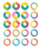 Ensemble de différents cercles de flèche d'isolement sur le blanc avec des ombres Photographie stock