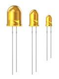 Ensemble de diodes jaunes d'émission légère Images libres de droits