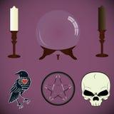ensemble de diseurs de bonne aventure d'outils, sorcières illustration de vecteur