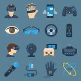Ensemble de dispositif de réalité virtuelle Photos libres de droits