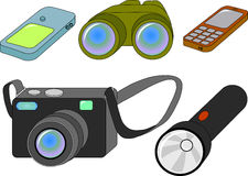 Ensemble de dispositifs Images stock