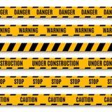 Ensemble de dispositifs avertisseurs jaunes Photo stock