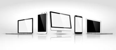Ensemble de dispositifs modernes isométriques Vecteur Images stock