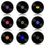 Ensemble de disque-LP de vinyle Image stock