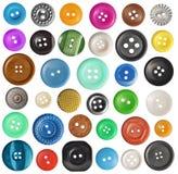 Ensemble de divers boutons Photographie stock libre de droits