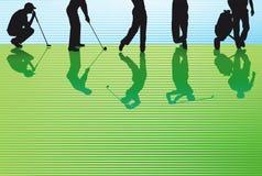 Golfeurs illustration stock