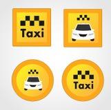 Ensemble de divers graphismes de taxi Photographie stock