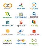 Ensemble de divers icônes et Logo Designs - couleurs et éléments multiples Image libre de droits