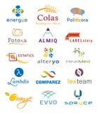 Ensemble de divers icônes et Logo Designs - couleurs et éléments multiples Images stock