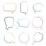 Ensemble de diverses bulles de la parole, vecteur Photo stock
