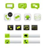 Icônes de communication Photographie stock