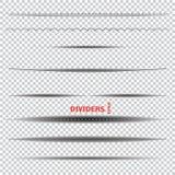 Ensemble de diviseurs Image stock