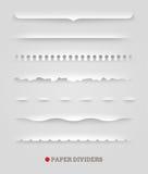 Ensemble de diviseurs de papier Photographie stock libre de droits