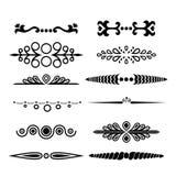 ensemble de diviseurs des textes Conception calligraphique et graphique elements-02 illustration libre de droits