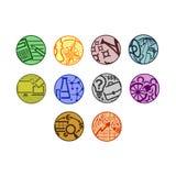 Ensemble de dix icônes rondes de vecteur simple pour le site d'actualités ou le thème d'affaires illustration de vecteur