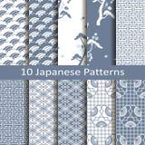 Ensemble de dix modèles japonais Photos stock