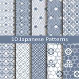 Ensemble de dix modèles japonais Photo stock