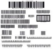Ensemble de dix-neuf codes barres illustration libre de droits