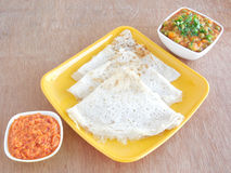 Ensemble de Dosa Image stock