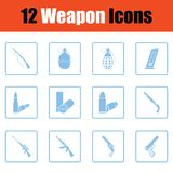 Ensemble de douze icônes d'arme illustration stock