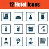 Ensemble de douze icônes d'hôtel Photographie stock
