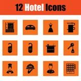 Ensemble de douze icônes d'hôtel Photo stock