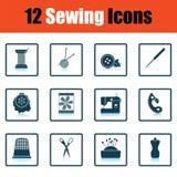 Ensemble de douze icônes de couture Image libre de droits