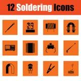 Ensemble de douze icônes de soudure Images libres de droits