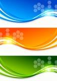Ensemble de drapeaux colorés Photo stock