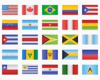 Ensemble de drapeaux de pays américains illustration stock