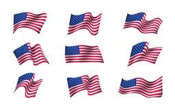 Ensemble de drapeaux des USA illustration libre de droits
