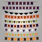 Ensemble de drapeaux et de rubans avec une conception saisissante pour Halloween V Photos stock