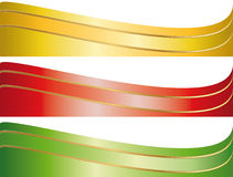 Ensemble de drapeaux illustrés de bande Images stock