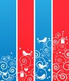 Ensemble de drapeaux ou de signets mignons de vacances de Noël Images stock