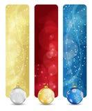 Ensemble de drapeaux verticaux vol. 02 de Noël de l'hiver Images stock