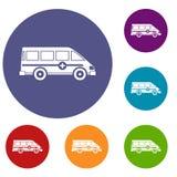Ensemble de emergency van icons d'ambulance illustration stock
