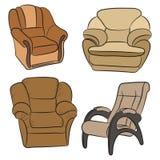 Ensemble de fauteuils Photographie stock