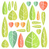 Ensemble de feuilles illustration stock