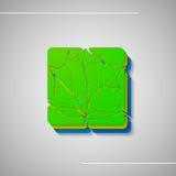 Ensemble de feuilles abstraites Photo libre de droits