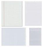 Ensemble de feuilles de papier blanc Photographie stock