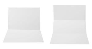 Ensemble de feuilles pliées du papier A4 Photo stock