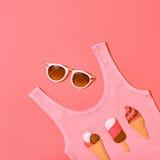 Ensemble de fille de hippie d'été Conception de mode, minimale Images stock