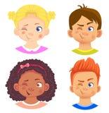 Ensemble de filles et de caractère de garçon illustration libre de droits