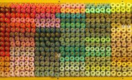 Ensemble de fils colorés Photographie stock libre de droits