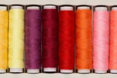 Ensemble de fils colorés pour la couture Images stock
