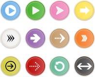 Ensemble de flèche d'icônes illustration libre de droits