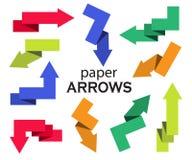 Ensemble de flèches de papier multicolores Photo libre de droits