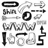 Ensemble de flèches de vecteur Illustration Libre de Droits